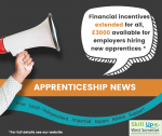 Cash Incentives Extended and to double to £3,000 For Employers of Adult Apprentices